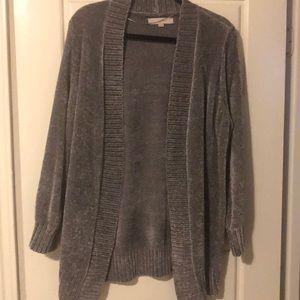 LOFT Grey Sweater Cardigan- EUC